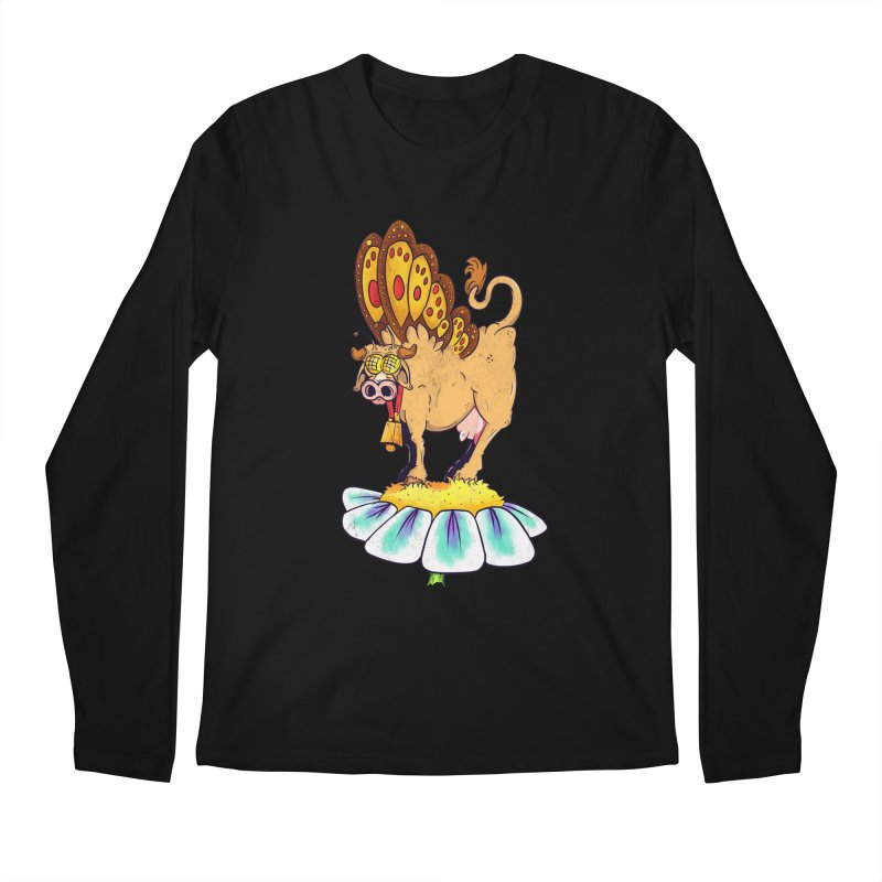 La Vaca Mariposa (The Cow Butterfly) Men's Regular Longsleeve T-Shirt by The Last Tsunami's Artist Shop