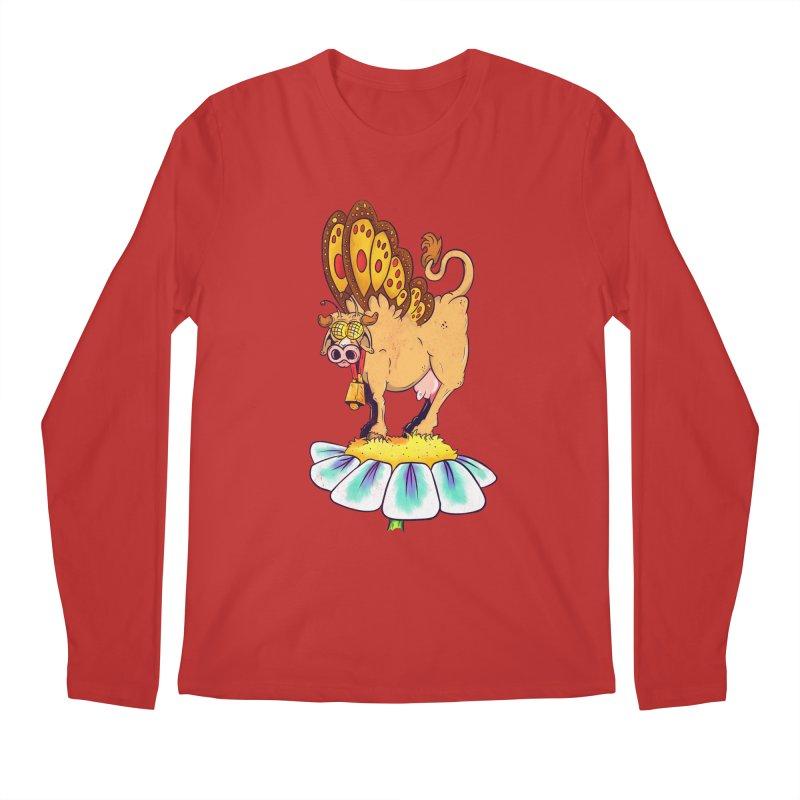 La Vaca Mariposa (The Cow Butterfly) Men's Regular Longsleeve T-Shirt by The Last Tsunami's Artist Shop