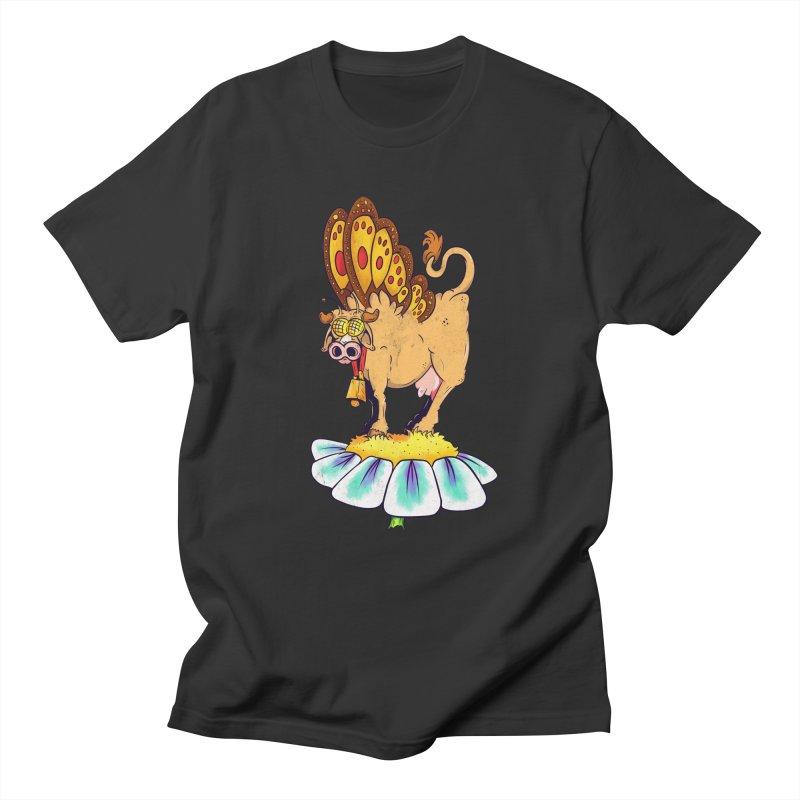 La Vaca Mariposa (The Cow Butterfly) Men's Regular T-Shirt by The Last Tsunami's Artist Shop