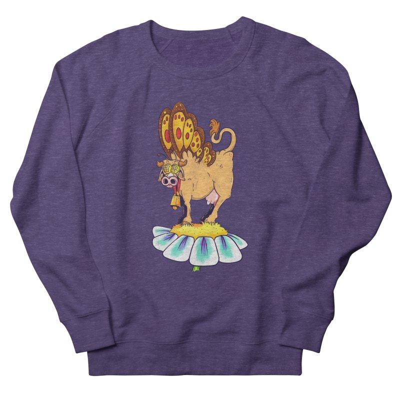 La Vaca Mariposa (The Cow Butterfly) Women's French Terry Sweatshirt by The Last Tsunami's Artist Shop
