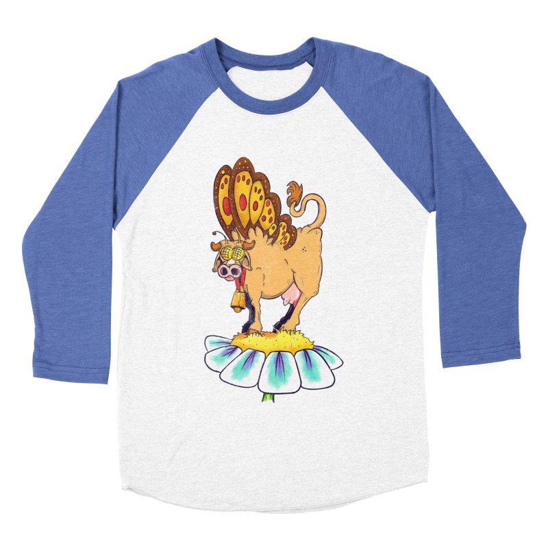 La Vaca Mariposa (The Cow Butterfly) Women's Baseball Triblend Longsleeve T-Shirt by The Last Tsunami's Artist Shop