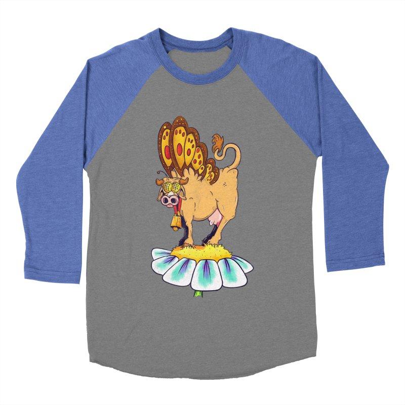 La Vaca Mariposa (The Cow Butterfly) Men's Baseball Triblend Longsleeve T-Shirt by The Last Tsunami's Artist Shop