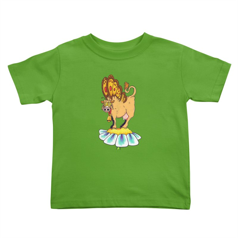La Vaca Mariposa (The Cow Butterfly) Kids Toddler T-Shirt by The Last Tsunami's Artist Shop