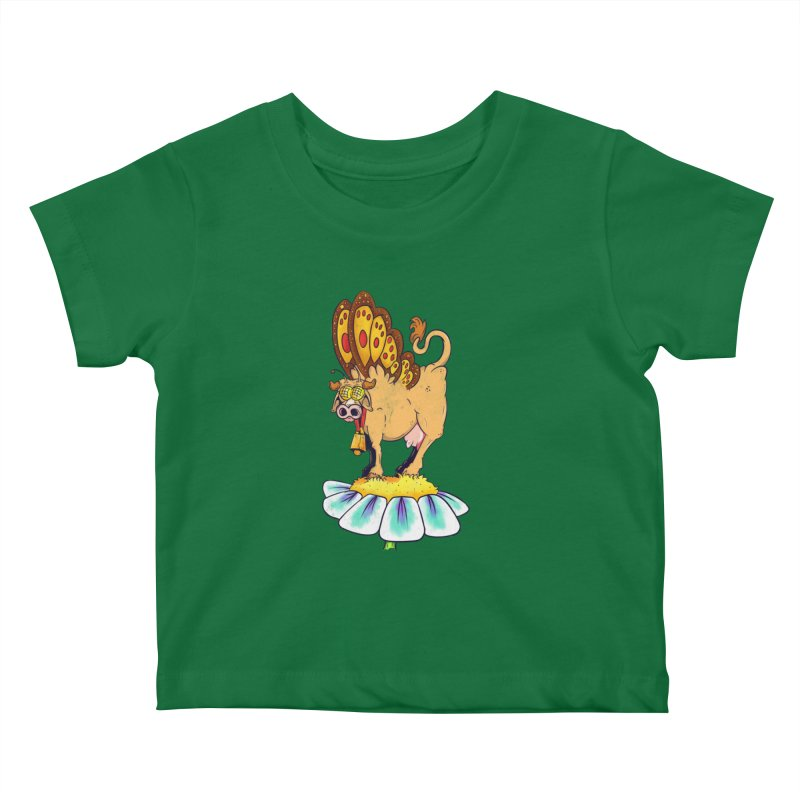 La Vaca Mariposa (The Cow Butterfly) Kids Baby T-Shirt by The Last Tsunami's Artist Shop