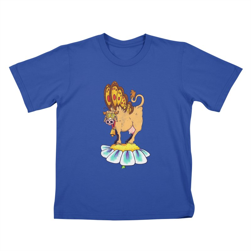 La Vaca Mariposa (The Cow Butterfly) Kids T-Shirt by The Last Tsunami's Artist Shop