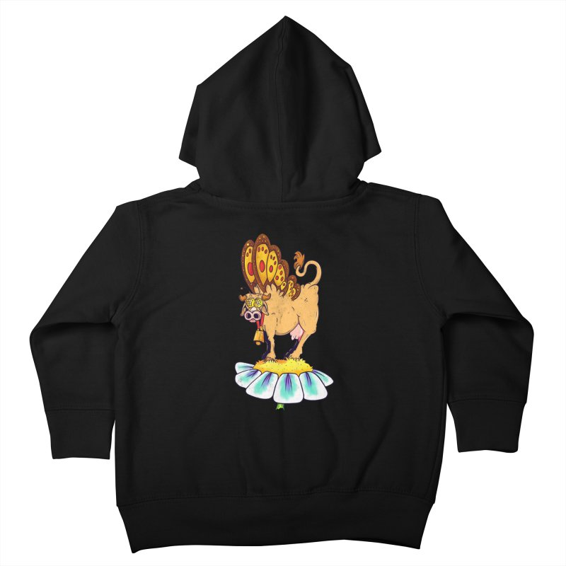 La Vaca Mariposa (The Cow Butterfly) Kids Toddler Zip-Up Hoody by The Last Tsunami's Artist Shop