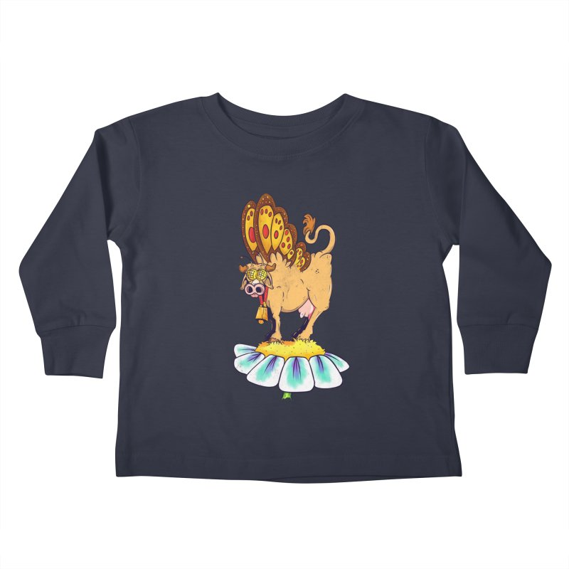La Vaca Mariposa (The Cow Butterfly) Kids Toddler Longsleeve T-Shirt by The Last Tsunami's Artist Shop