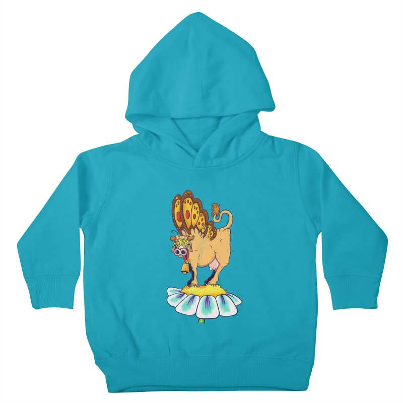 La Vaca Mariposa (The Cow Butterfly) Kids Toddler Pullover Hoody by The Last Tsunami's Artist Shop