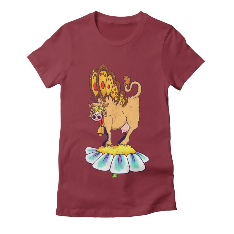 La Vaca Mariposa (The Cow Butterfly) Women's Fitted T-Shirt by The Last Tsunami's Artist Shop