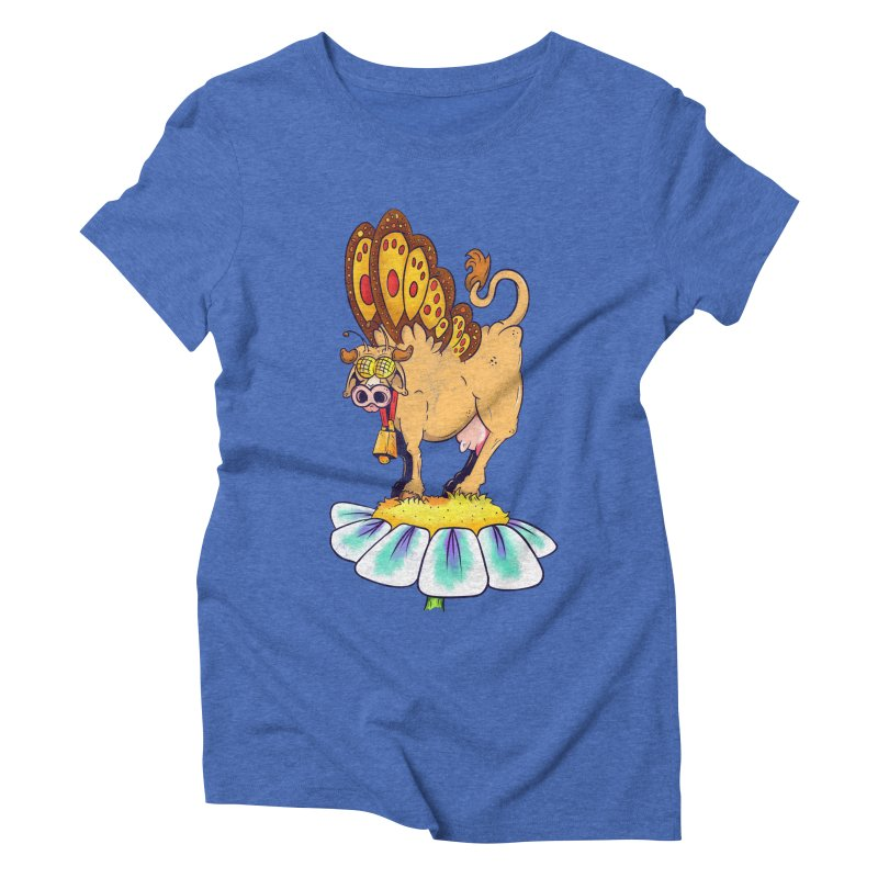 La Vaca Mariposa (The Cow Butterfly) Women's Triblend T-Shirt by The Last Tsunami's Artist Shop