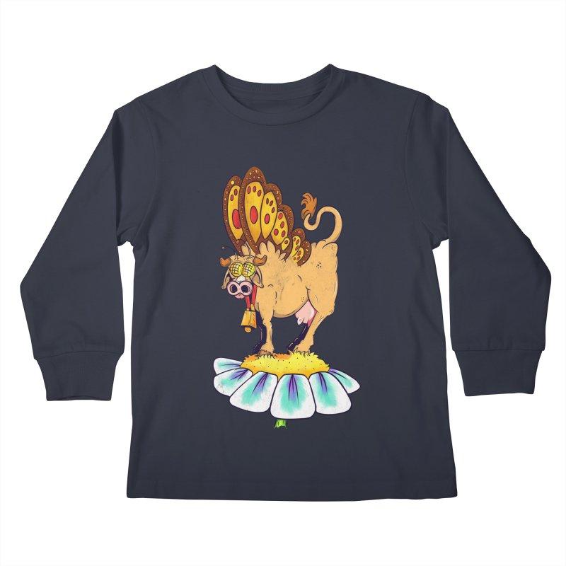 La Vaca Mariposa (The Cow Butterfly) Kids Longsleeve T-Shirt by The Last Tsunami's Artist Shop