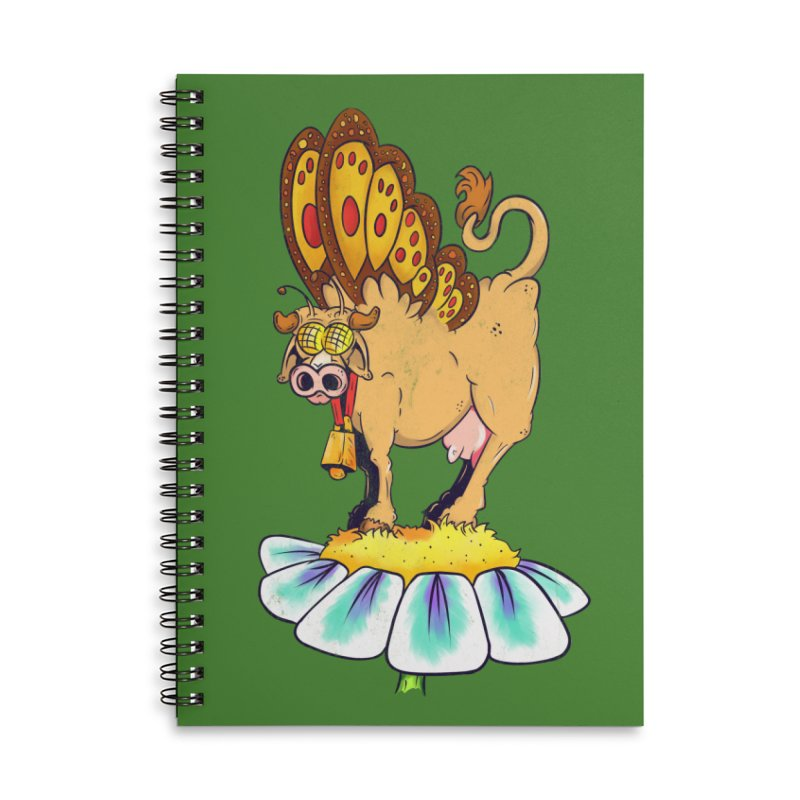 La Vaca Mariposa (The Cow Butterfly) Accessories Lined Spiral Notebook by The Last Tsunami's Artist Shop