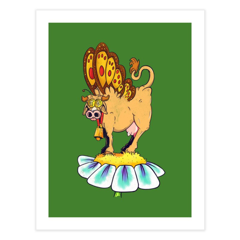 La Vaca Mariposa (The Cow Butterfly) Home Fine Art Print by The Last Tsunami's Artist Shop