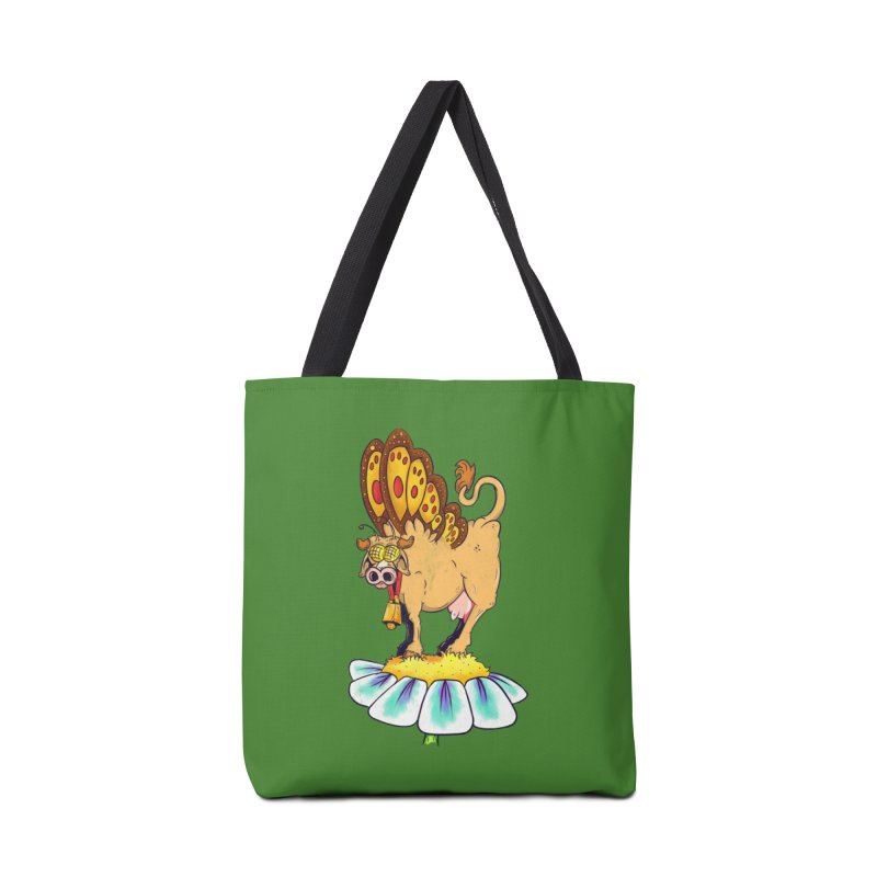 La Vaca Mariposa (The Cow Butterfly) Accessories Tote Bag Bag by The Last Tsunami's Artist Shop