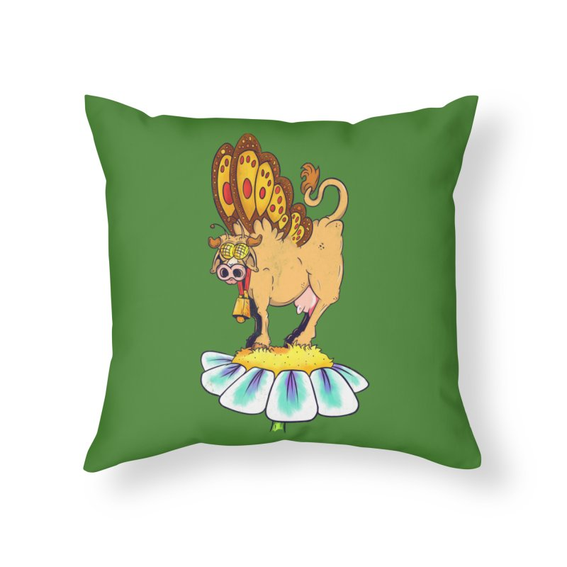 La Vaca Mariposa (The Cow Butterfly) Home Throw Pillow by The Last Tsunami's Artist Shop