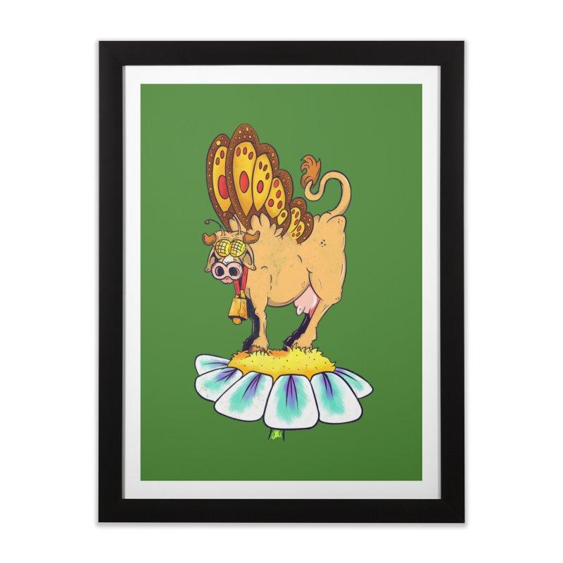 La Vaca Mariposa (The Cow Butterfly) Home Framed Fine Art Print by The Last Tsunami's Artist Shop