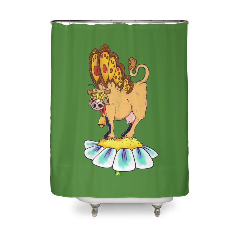 La Vaca Mariposa (The Cow Butterfly) Home Shower Curtain by The Last Tsunami's Artist Shop