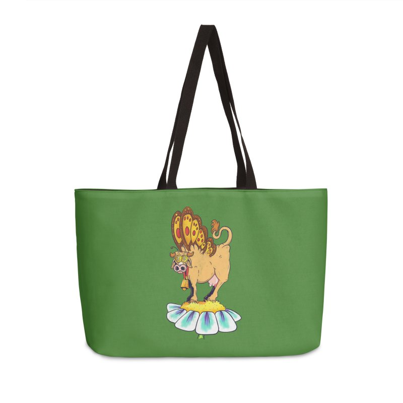 La Vaca Mariposa (The Cow Butterfly) Accessories Weekender Bag Bag by The Last Tsunami's Artist Shop