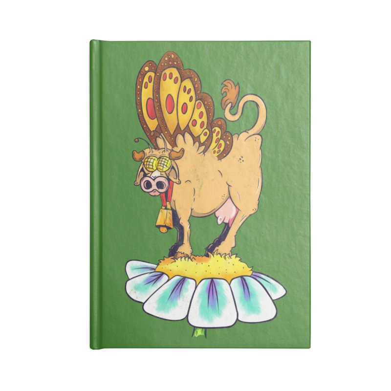 La Vaca Mariposa (The Cow Butterfly) Accessories Blank Journal Notebook by The Last Tsunami's Artist Shop
