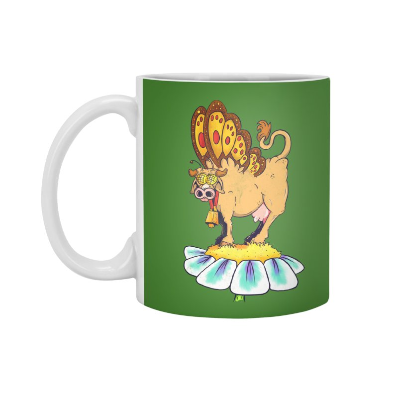 La Vaca Mariposa (The Cow Butterfly) Accessories Mug by The Last Tsunami's Artist Shop