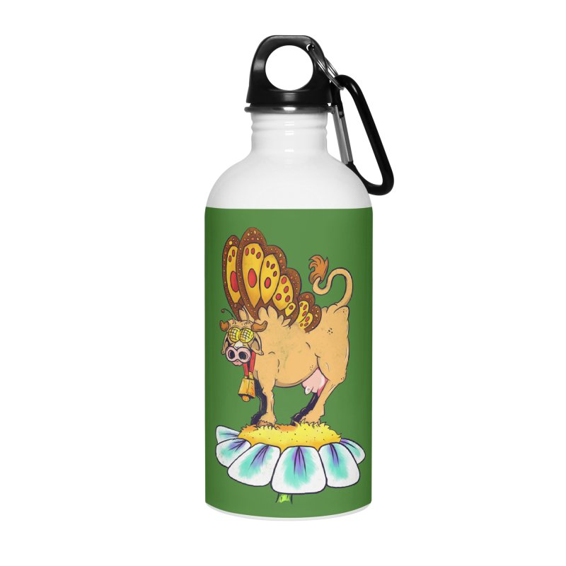 La Vaca Mariposa (The Cow Butterfly) Accessories Water Bottle by The Last Tsunami's Artist Shop