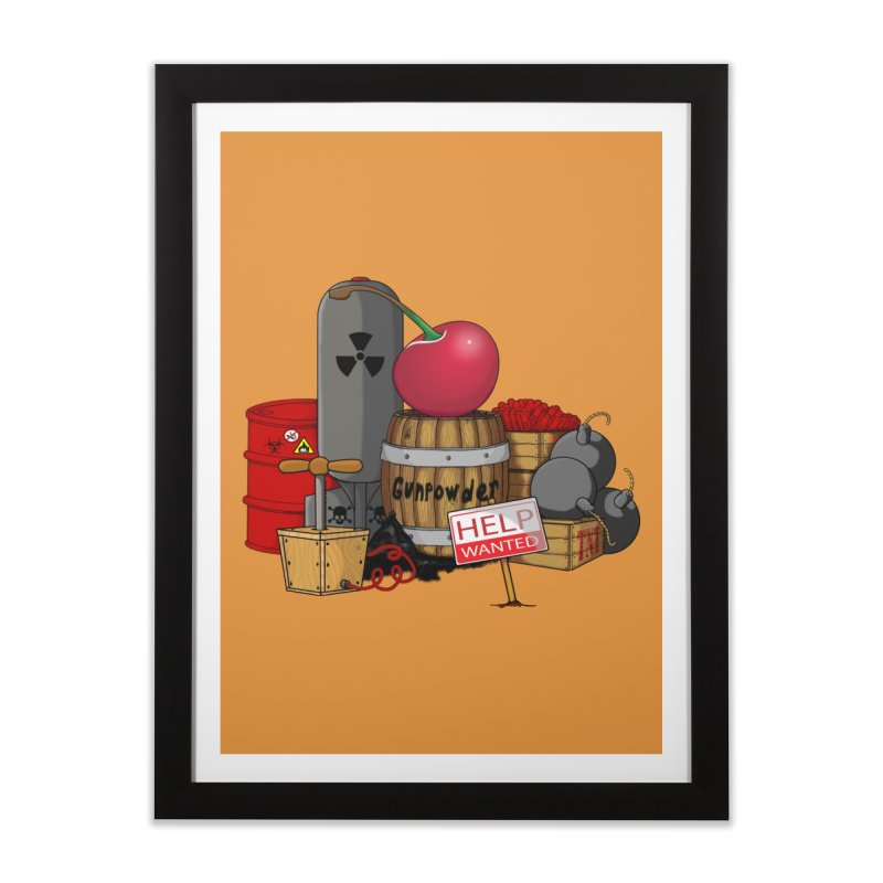 Help wanted!!!!! Home Framed Fine Art Print by The Last Tsunami's Artist Shop