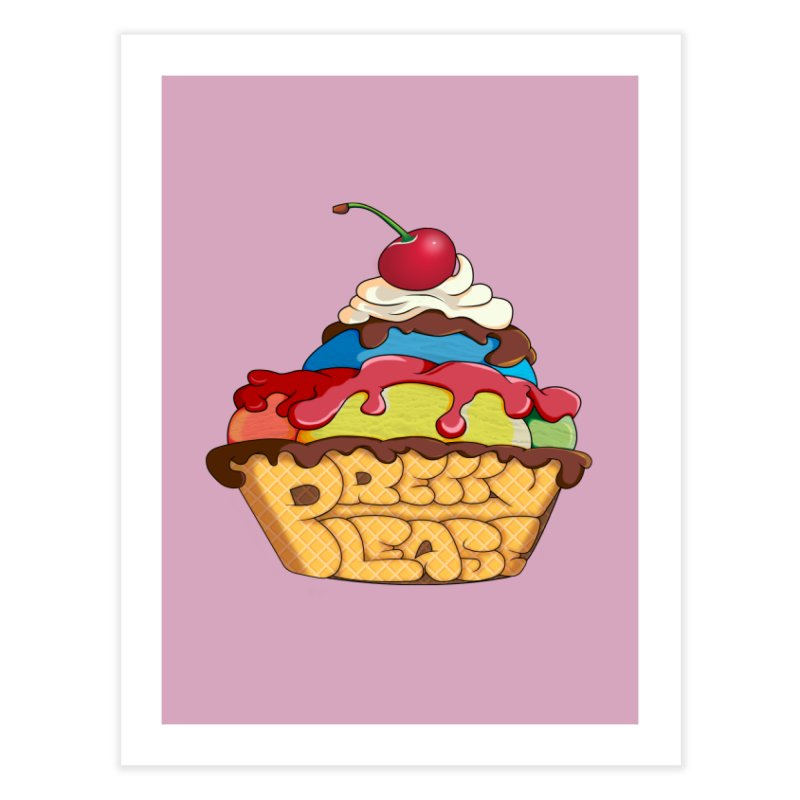 With the Cherry on Top Home Fine Art Print by The Last Tsunami's Artist Shop