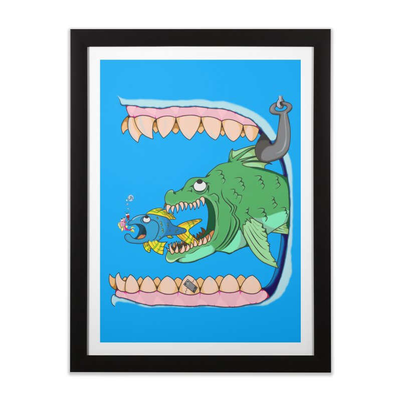 A Big One Home Framed Fine Art Print by The Last Tsunami's Artist Shop