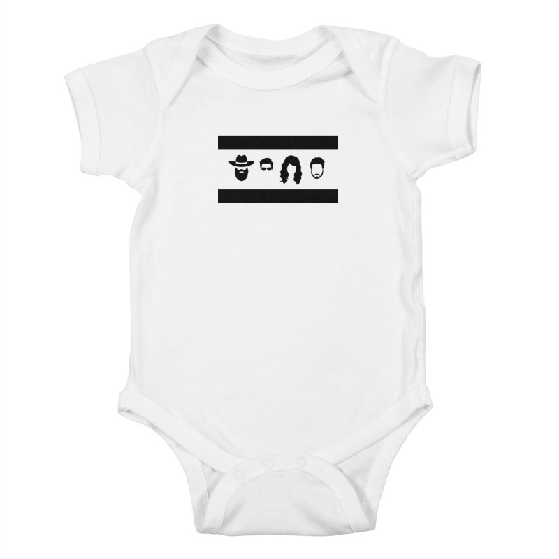 Chicago Flag Silhouette Kids Baby Bodysuit by The Lucky Dutch's Merch Page