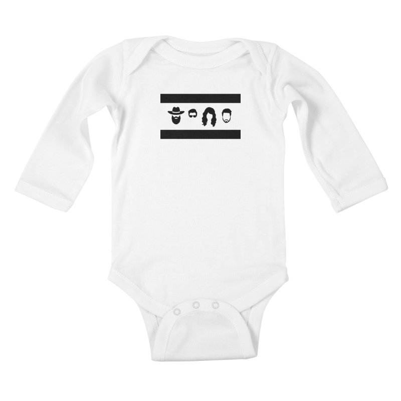 Chicago Flag Silhouette Kids Baby Longsleeve Bodysuit by The Lucky Dutch's Merch Page