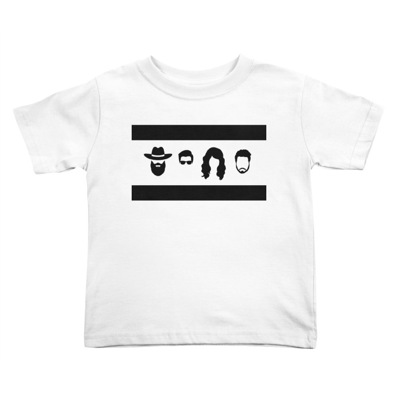 Chicago Flag Silhouette Kids Toddler T-Shirt by The Lucky Dutch's Merch Page