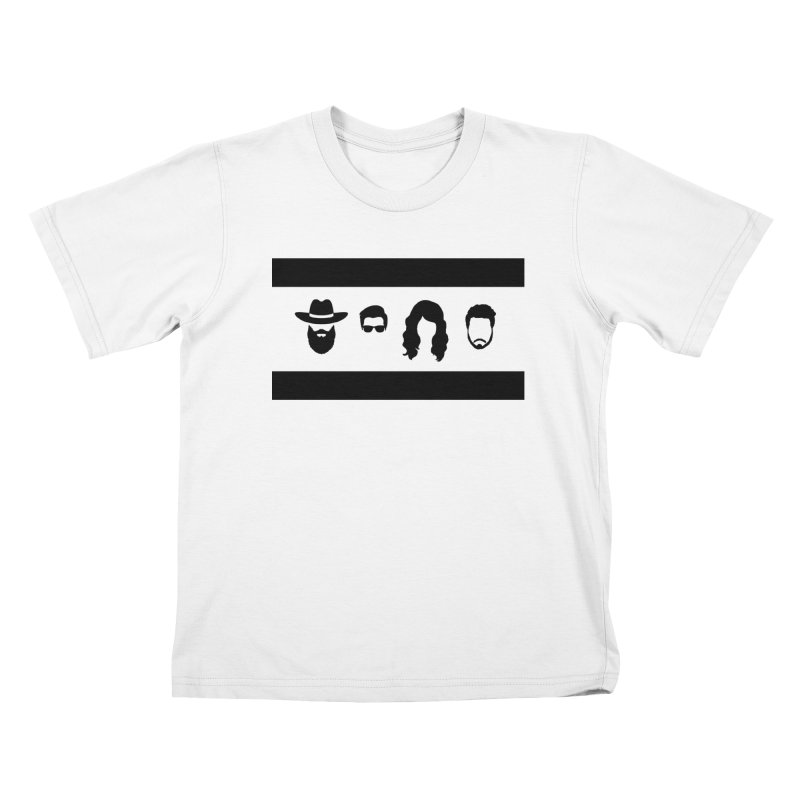 Chicago Flag Silhouette Kids T-Shirt by The Lucky Dutch's Merch Page