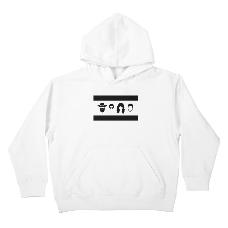Chicago Flag Silhouette Kids Pullover Hoody by The Lucky Dutch's Merch Page