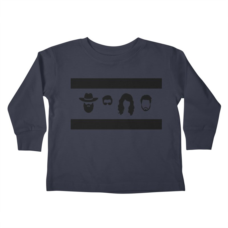 Chicago Flag Silhouette Kids Toddler Longsleeve T-Shirt by The Lucky Dutch's Merch Page