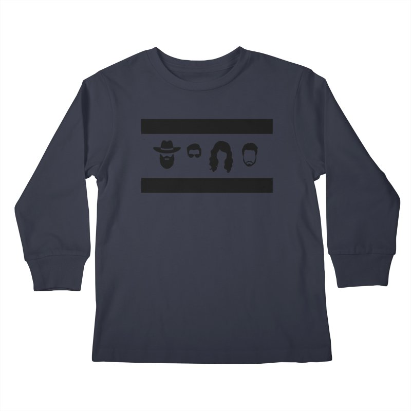 Chicago Flag Silhouette Kids Longsleeve T-Shirt by The Lucky Dutch's Merch Page
