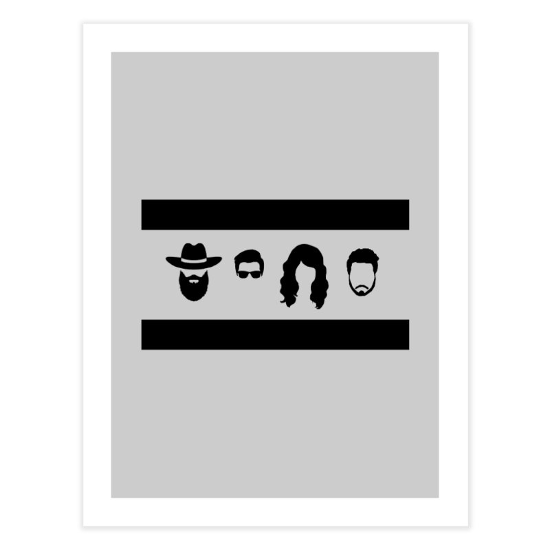 Chicago Flag Silhouette Home Fine Art Print by The Lucky Dutch's Merch Page