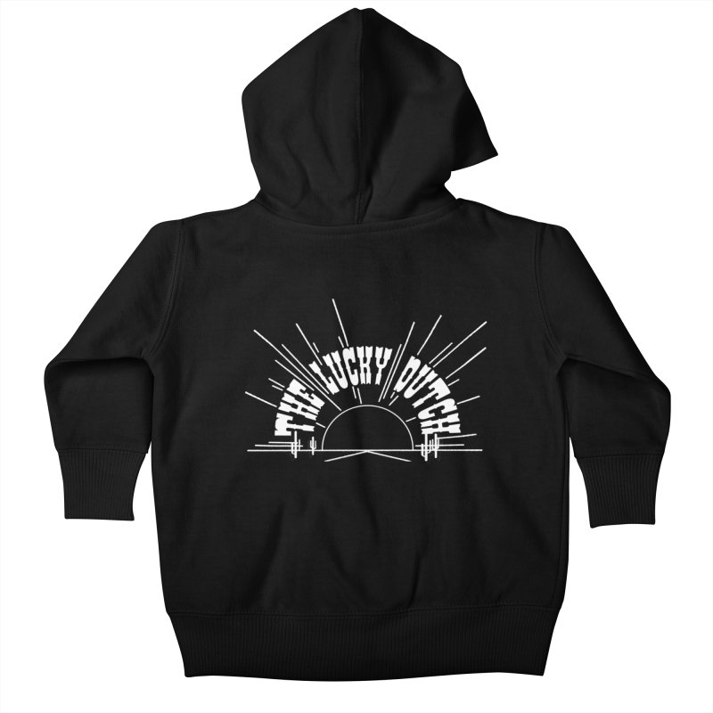 Sunset Out West Kids Baby Zip-Up Hoody by The Lucky Dutch's Merch Page