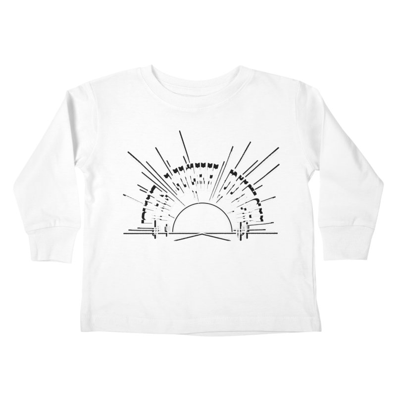 Sunset Out West Kids Toddler Longsleeve T-Shirt by The Lucky Dutch's Merch Page
