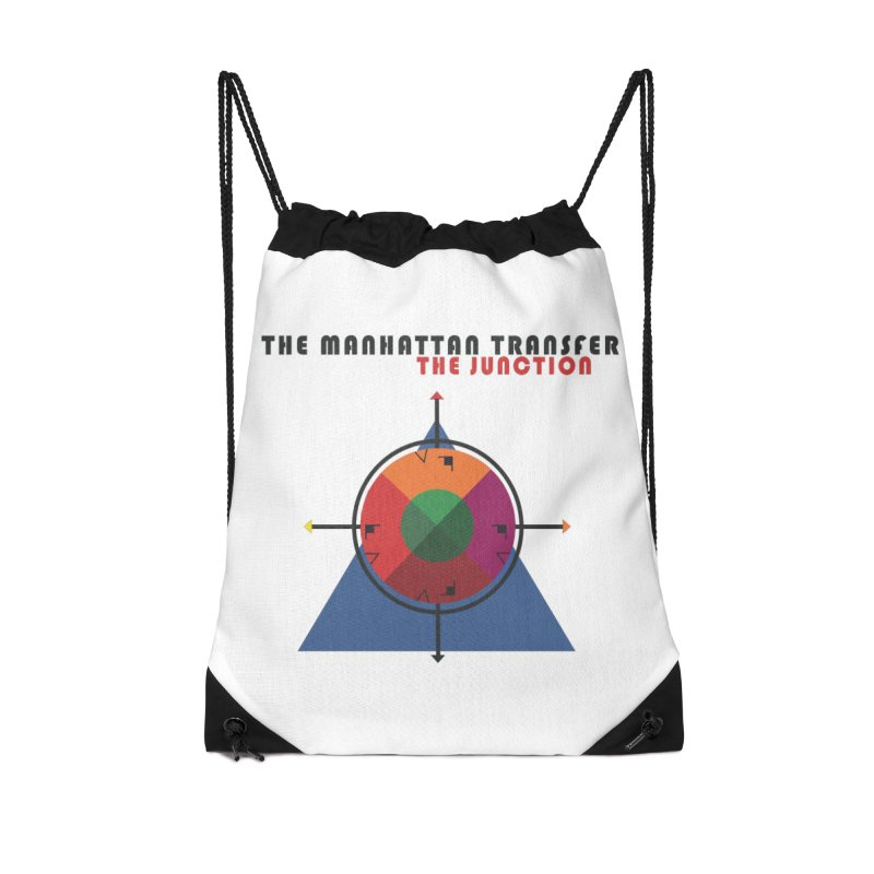 THE JUNCTION Accessories Drawstring Bag Bag by The Manhattan Transfer's Artist Shop