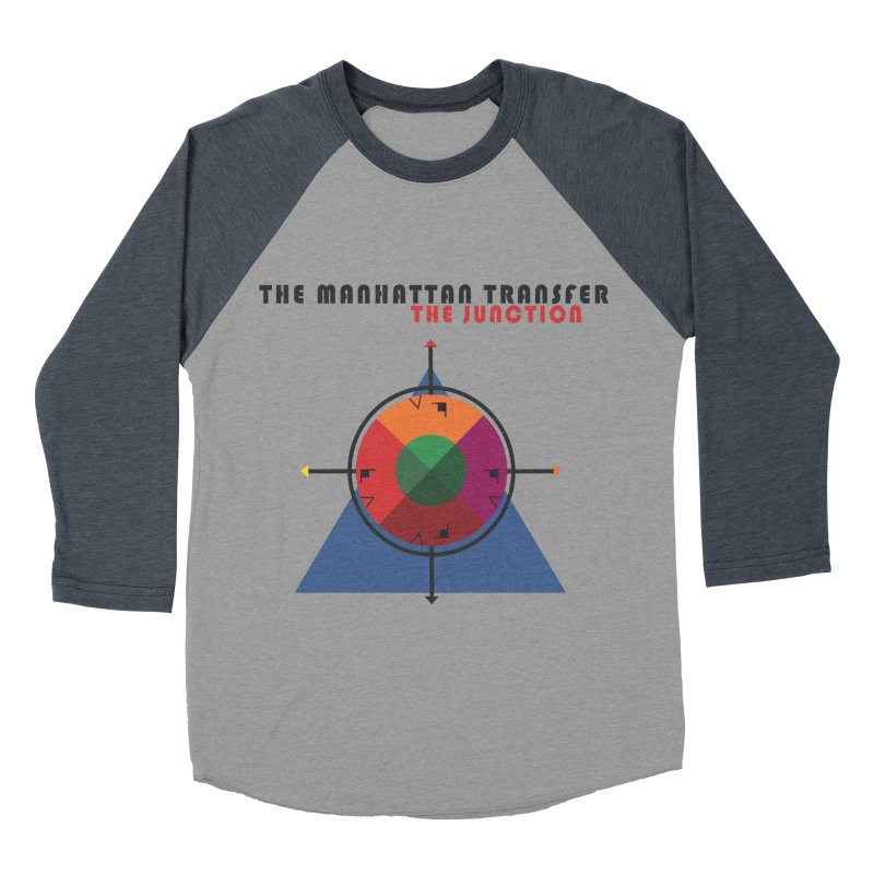 THE JUNCTION Men's Baseball Triblend Longsleeve T-Shirt by The Manhattan Transfer's Artist Shop