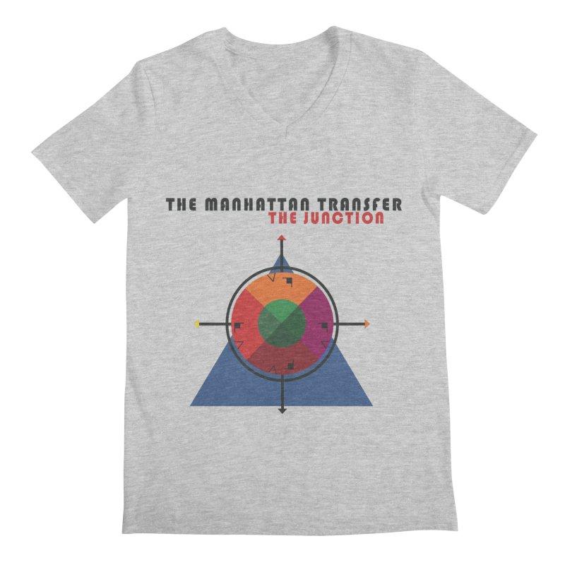 THE JUNCTION Men's Regular V-Neck by The Manhattan Transfer's Artist Shop