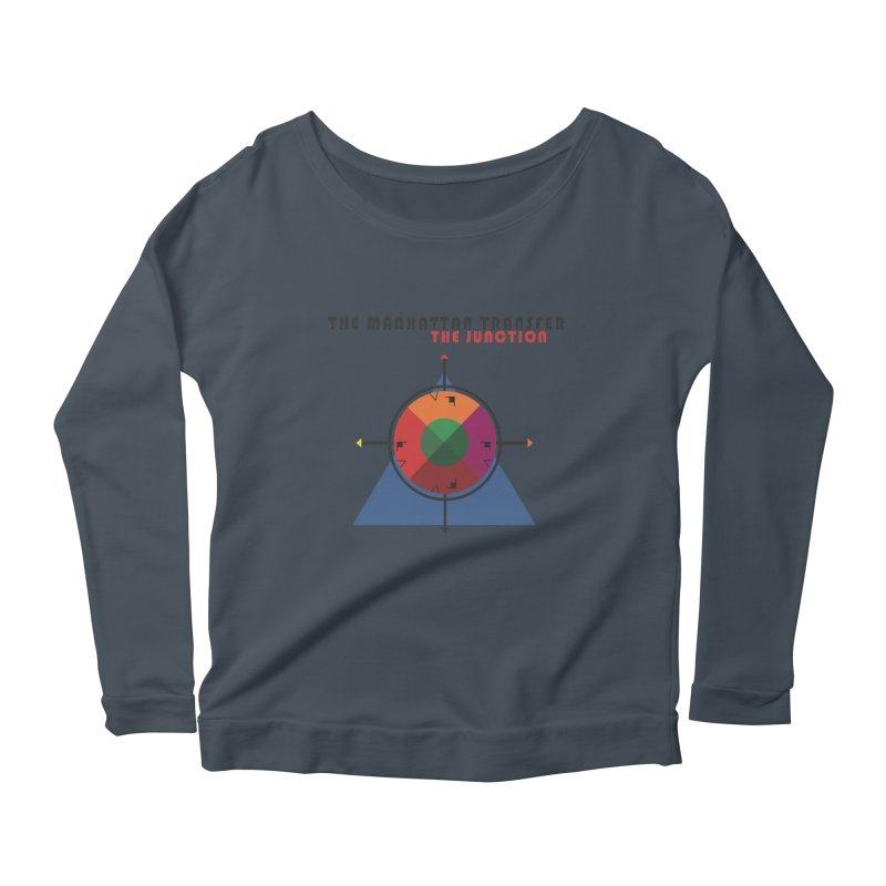 THE JUNCTION Women's Scoop Neck Longsleeve T-Shirt by The Manhattan Transfer's Artist Shop