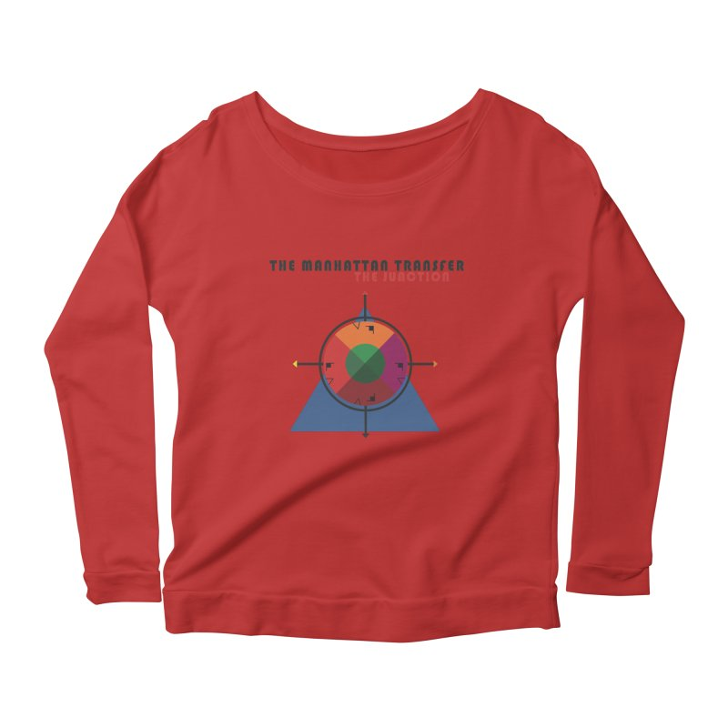 THE JUNCTION Women's Scoop Neck Longsleeve T-Shirt by The Manhattan Transfer's Artist Shop