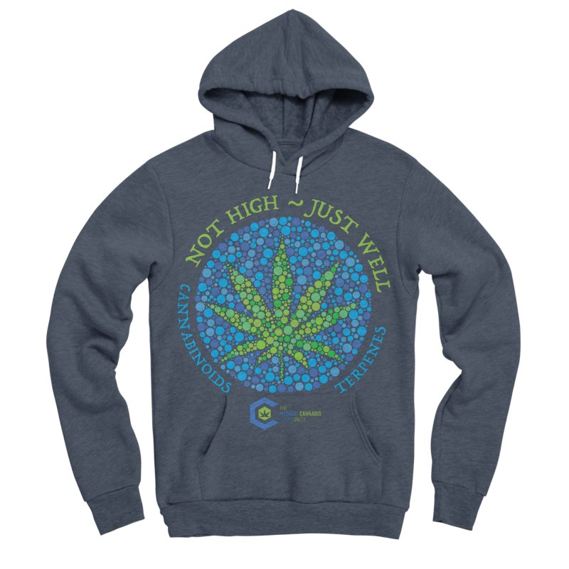 Not High ~ Just Well Men's Sponge Fleece Pullover Hoody by The Medical Cannabis Community
