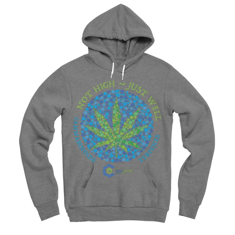 Not High ~ Just Well Women's Sponge Fleece Pullover Hoody by The Medical Cannabis Community