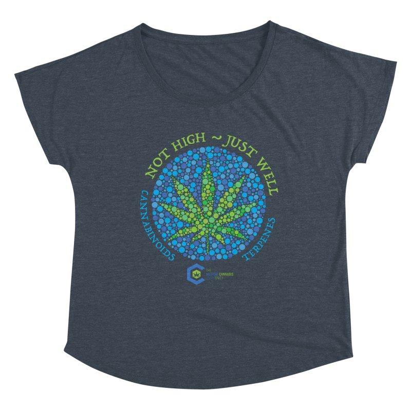 Not High ~ Just Well Women's Dolman Scoop Neck by The Medical Cannabis Community