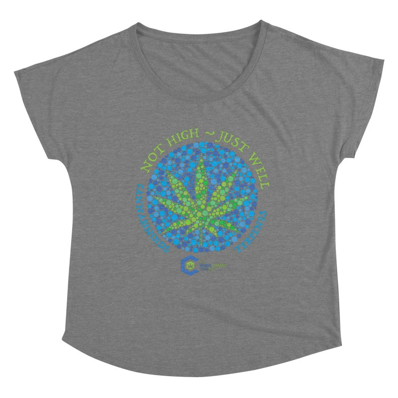 Not High ~ Just Well Women's Scoop Neck by The Medical Cannabis Community