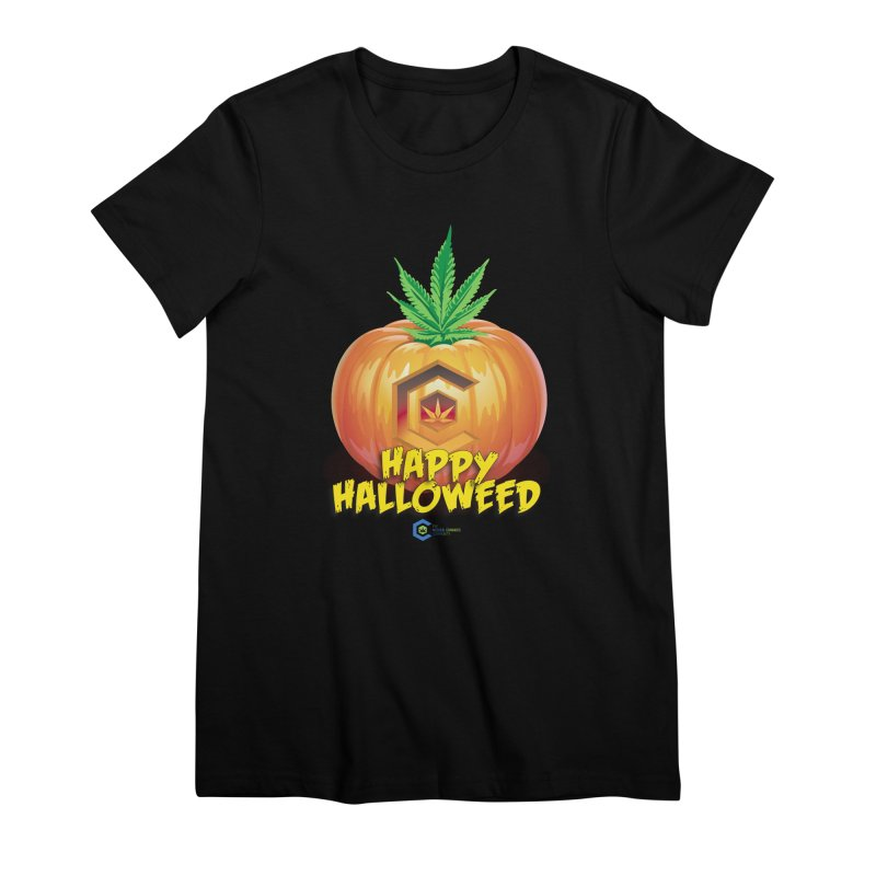 Happy Halloweed Women's Premium T-Shirt by The Medical Cannabis Community