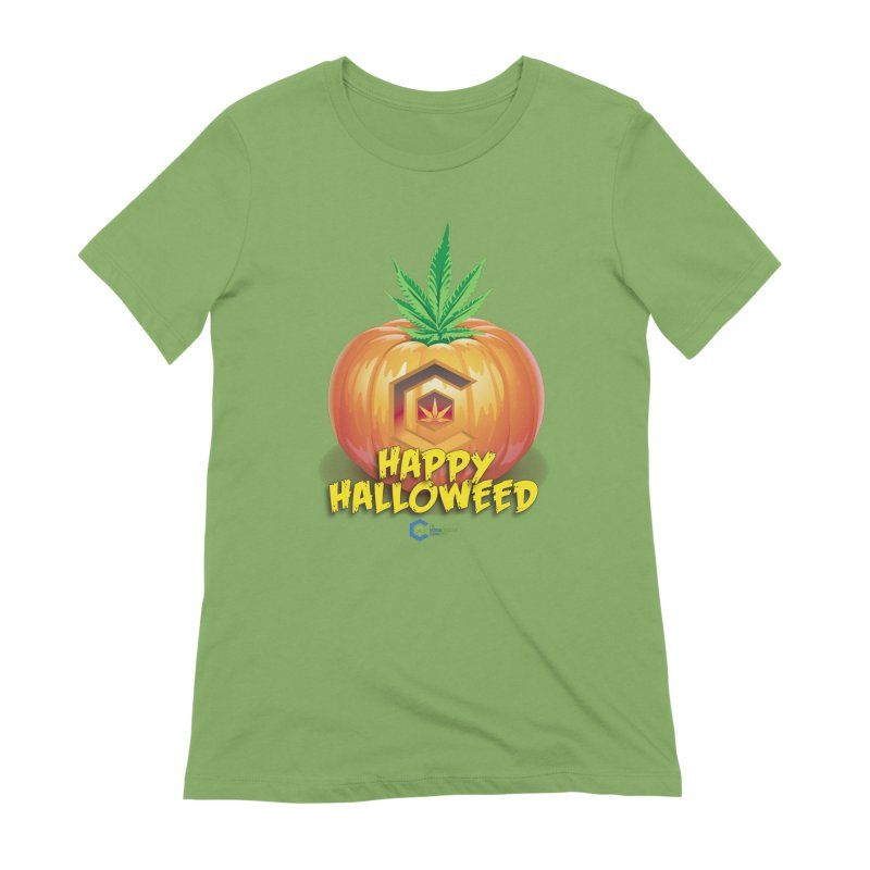Happy Halloweed Women's Extra Soft T-Shirt by The Medical Cannabis Community