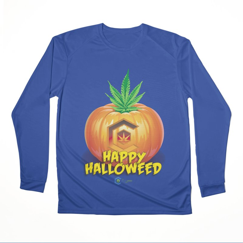 Happy Halloweed Women's Performance Unisex Longsleeve T-Shirt by The Medical Cannabis Community